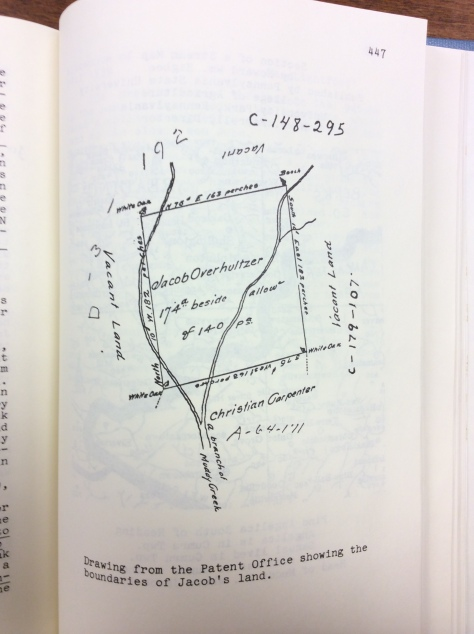 """Map found in the book """"Christian Overholtzer and His Father Jacob."""""""