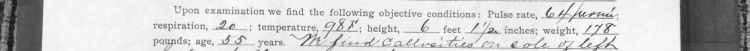 Peter Beer's physical description from document below.