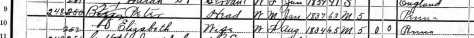Excerpt from 1900 Census found on Ancestry.com